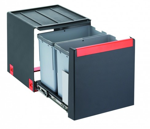 Franke - sorter cube 40 - 2x14 l (černá)