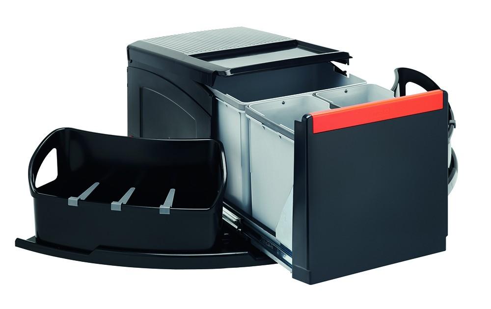 Franke - sorter cube roh - 1x18 l, 2x8 l (černá)