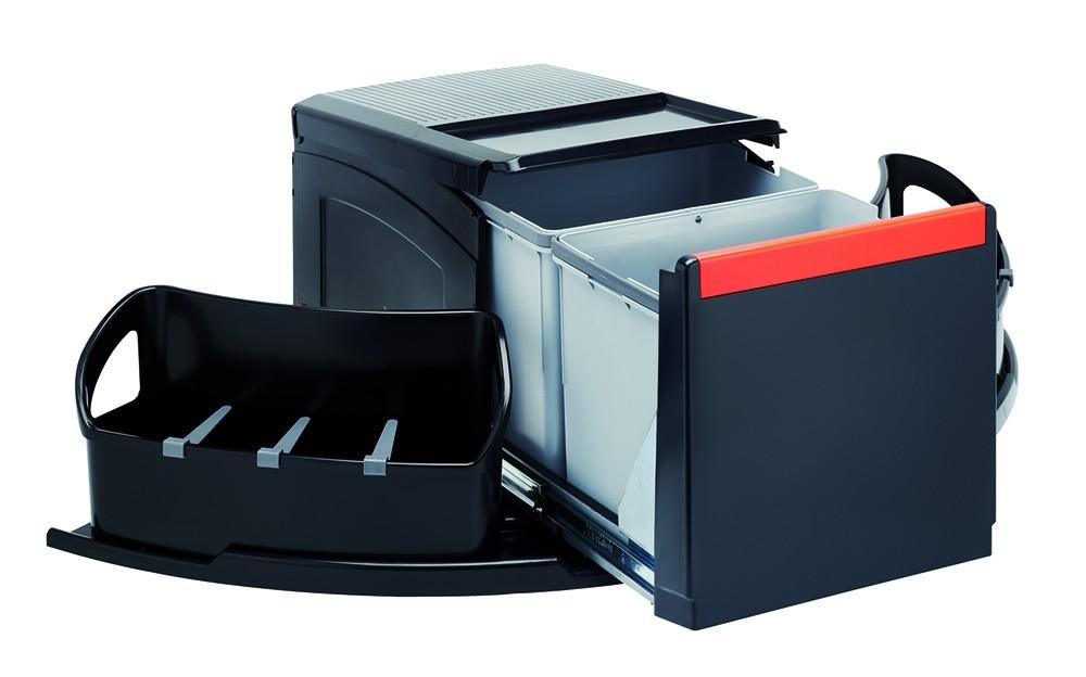 Franke - sorter cube roh - 2x18 l (černá)