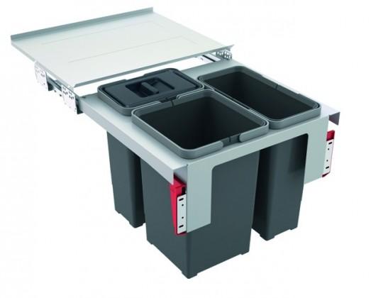 Franke - sorter garbo 50-3 - 2x12 l, 1x8 l (šedá)