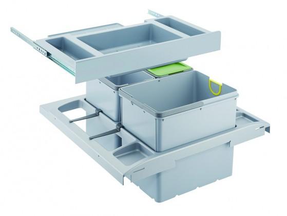 Franke - sorter trolley vario - 1x18 l, 2x8 l (šedá)