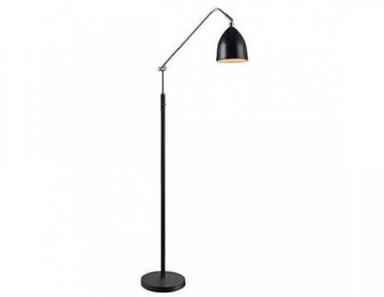 Fredrikshamn - Lampa podlahová (kov/kov/černá)