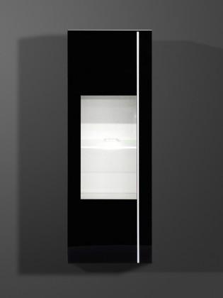 Freestyle - Závěsná vitrína, 1502-73 (bílá/černá vysoký lesk)