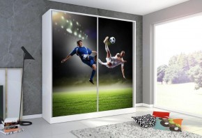 Futboll - Skříň, 200/214/62 (bílá/potisk)