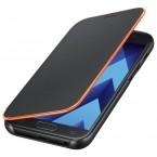 Galaxy A5 (2017) Flipové neonové pouzdro Black