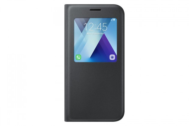 Galaxy A5 (2017) Flipové pouzdro S View se stojánkem Black ROZBAL