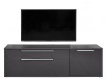Gamble - TV stolek 570154 (antracit/antracit lesk) - PŘEBALENO