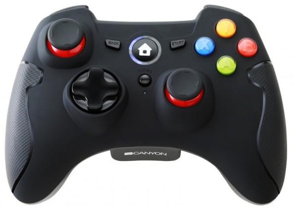 Gamepady pro PC Gamepad Canyon CND-GPW6, pro PC, android, PS3, bezdrátový, černý