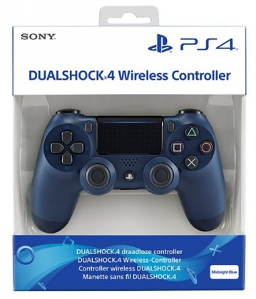 Gamepady pro PlayStation Sony PS4 DualShock 4 v2, tmavě modrý PS719874263