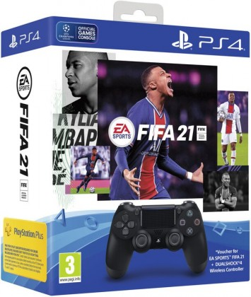 Gamepady pro PlayStation SONY PS4 Dualshock V-2 + FIFA21