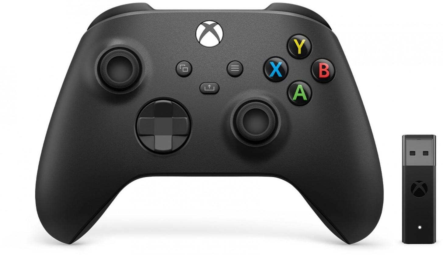 Gamepady pro Xbox XSX - Xbox One Gamepad + adaptér pro Windows