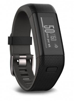 Garmin vívosmart Optic s GPS Black, (vel.L)-fitness náramek