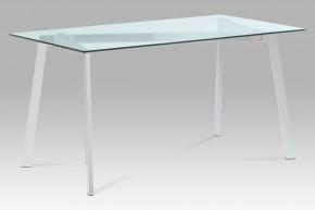 GDT - Jídelní stůl, čiré sklo/chrom (150x75x80 cm)
