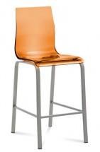 Gel - Barová židle (oranžová transparentní) - II. jakost