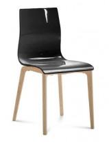 Gel-l - Jídelní židle (černá lesk) - II. jakost