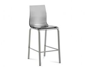 Gel-R-Sgb - Barová židle (hliník, průhledná)
