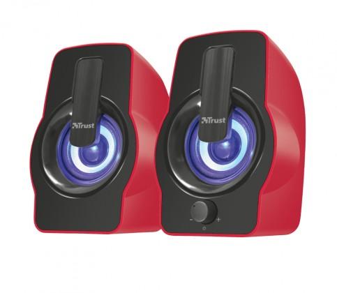 Gemi RGB 2.0 Speaker Set - red