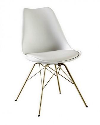 Gina Porgy (sedák bílá / konstrukce bronz)