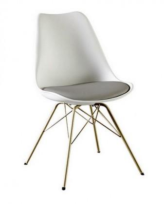 Gina Porgy (sedák bílá, šedá / konstrukce bronz)