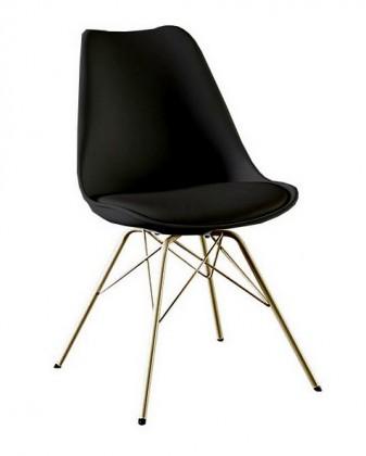 Gina Porgy (sedák černá / konstrukce bronz)