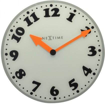 Girl - hodiny, nástěnné, kulaté (mléčné sklo, bílé)