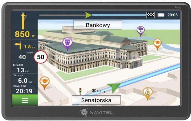 """GPS Navigace 5"""" Navitel E707 LM, 47 zemí, Magnet"""