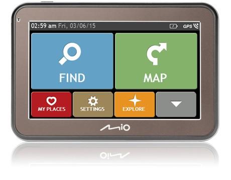 """GPS Navigace Mio Spirit 5670, 4,3"""", 44 zemí, LM"""
