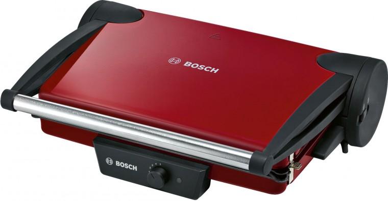 Gril Kontaktní gril Bosch TFB4402V, červený VADA VZHLEDU, ODĚRKY
