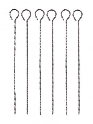 Grilovací jehlice, 31cm, 6 ks (chrom)