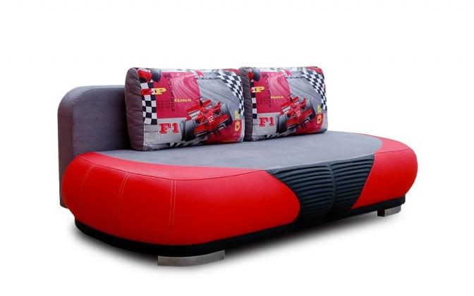 GT - 3-sedák (červená / černá)
