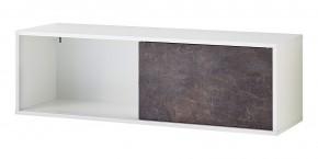 GW-Altino - Regál, posuvné dveře, 120x37x36 (bílá/čedičová šedá)