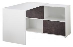 GW-Altino - Stůl s regálem (bílá/čedičová šedá)