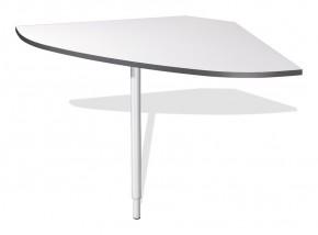 GW-Linea - spojovací roh stolu (antracit / bílá)