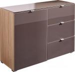 GW-Perla-skříň,1xdveře,3xšuplík (dub sonoma-korpus/grafit-front)