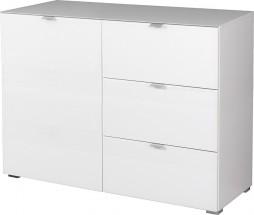 GW-Primera - skříňka, 1x dveře, 3x šuplík (bílá)