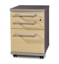 GW-Profi-Kontejner,3 zásuvky (javor/stříbrná)