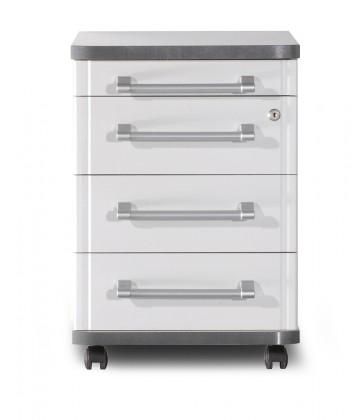 GW-Profi-Kontejner,4 zásuvky (světle šedá)