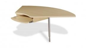 GW-Profi-Spojovací roh stolu,výškově stavitelný (javor/stříbrná)