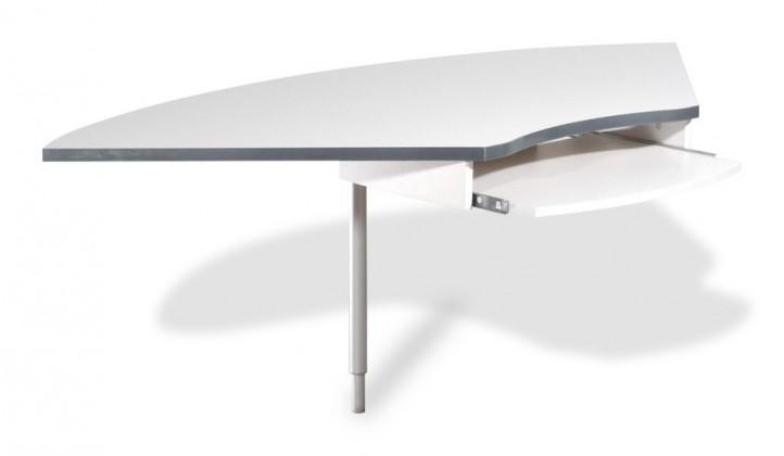 GW-Profi-Spojovací roh stolu,výškově stavitelný (světle šedá)
