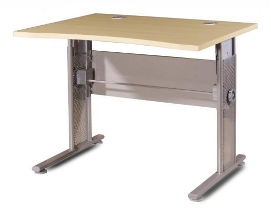 GW-Profi-Stůl,výškově stavitelný,šířka 100cm (javor/stříbrná)