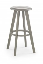 H-77 - Barová židle, šedá (plast)
