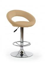 H15 - Barová židle (béžová, stříbrná)