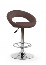 H15 - Barová židle (hnědá, stříbrná)