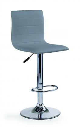 H21 - Barová židle (šedá, stříbrná)