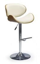 H44 - Barová židle, ořech-krémová