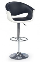 H46-Bar židle,bílo-černá