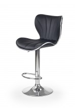 H69 - Barová židle (černá, stříbrná)