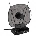 Hama aktivní pokojová anténa VHF/UHF/FM, 40dB, černá