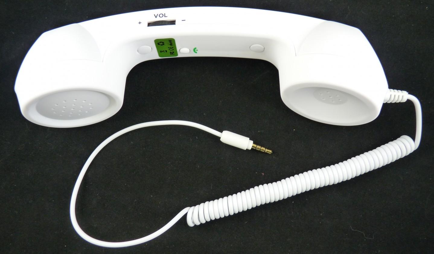 Hands free Retro telefonní sluchátko white