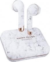 Happy Plugs Air 1 Plus - White Marble POUŽITÉ, NEOPOTŘEBENÉ ZBOŽÍ